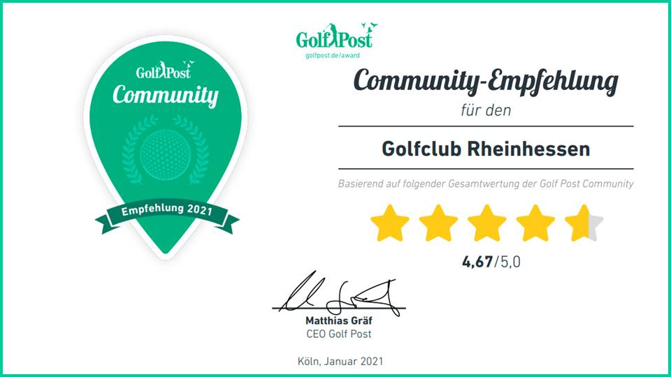 Golfclub Rheinhessen: Community Empfehlung